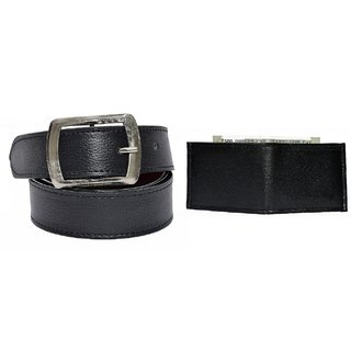 Destinastion Black Belt and Black Wallet Combo