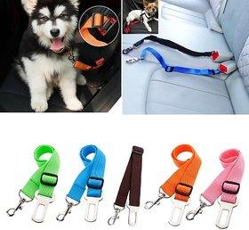 Adjustable Car Seat Safety Belt Seat belt For Pet Cat Dog (Multi-Color)