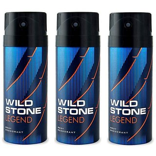 Wild Stone Legend Deodorant Spray  Pack of 3 Combo 150ML each 450ML