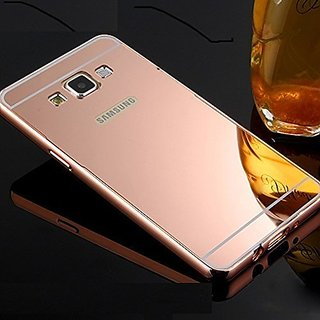 Mobimon Samsung Galaxy Grand I9082 Case Cover, Luxury Metal Bumper +  Acrylic Mirror Back Cover Case For Samsung Galaxy Grand I9082 - Rose Gold