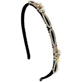 2cdde398c Anuradha Art Gold Finish Simple & Stylish Designer Hair Accessories Hair  Band For Women/Girls