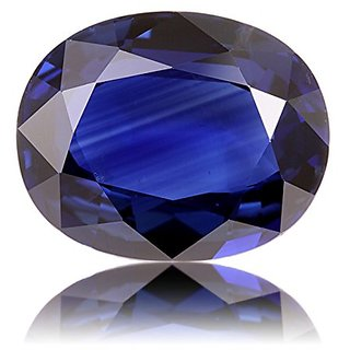 Dinesh Enterprises, Loose Gemstone Blue Sapphire (Neelam) 7.25 Ratti Lab Tested Natural  Good