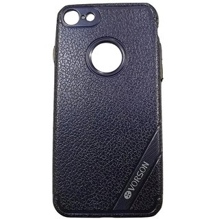 Blue Leather Look High Quality Premium Back Cover Case For iPhone 7 (4.7