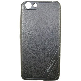 Blue Leather Look High Quality Premium Back Cover Case For VIVO V5+ / V5 PLUS