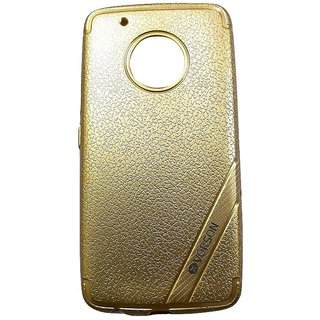 Golden Leather Look High Quality Premium Back Cover Case For MOTO G5+ / MOTO G5 PLUS