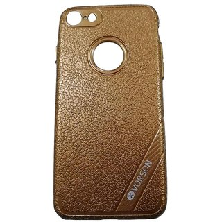 Brown Leather Look High Quality Premium Back Cover Case For iPhone 7 (4.7