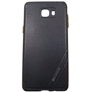 Blue Leather Look High Quality Premium Back Cover Case For Samsung Galaxy C9 PRO
