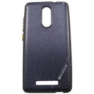 Blue Leather Look High Quality Premium Back Cover Case For REDMI NOTE 3
