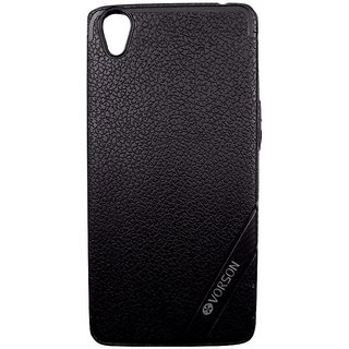 Black Leather Look High Quality Premium Back Cover Case For VIVO Y51/Y51L