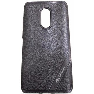 Blue Leather Look High Quality Premium Back Cover Case For REDMI NOTE 4