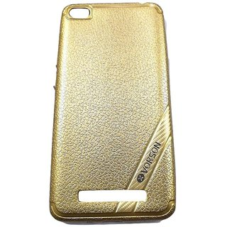 Golden Leather Look High Quality Premium Back Cover Case For REDMI 4A