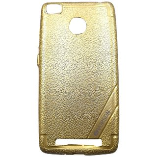 Golden Leather Look High Quality Premium Back Cover Case For REDMI 3S PRIME