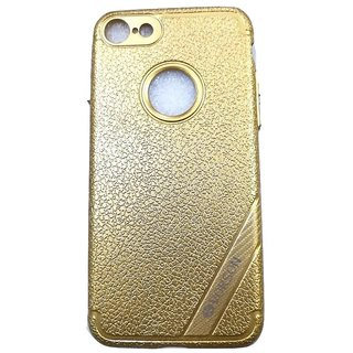 Golden Leather Look High Quality Premium Back Cover Case For iPhone 7 (4.7