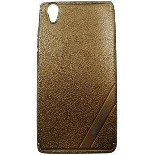 Brown Leather Look High Quality Premium Back Cover Case For OPPO A37