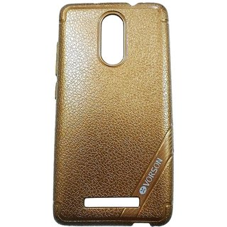 Brown Leather Look High Quality Premium Back Cover Case For REDMI NOTE 3
