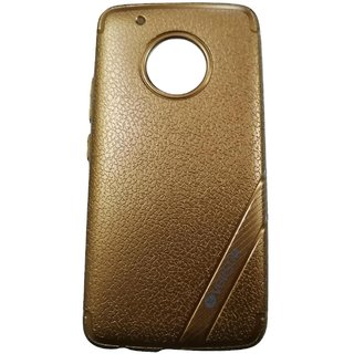 Brown Leather Look High Quality Premium Back Cover Case For MOTO G5+ / MOTO G5 PLUS