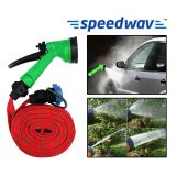 Accedre Pressure Washing Multifunctional Water Spray Jet Gun 10 Meter Hose Pipe - Orange