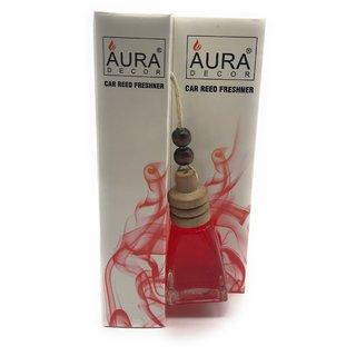 AuraDecor Car Reed Freshener 10ml (Life 3 months, Triangle Shape, German Rose Fragrance)