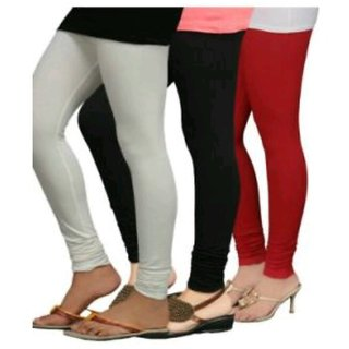 White black red cotton leggings