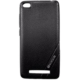 Black Luxury Look Back Cover Case For REDMI 4A