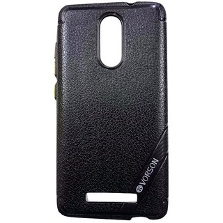 Black Luxury Look Back Cover Case For REDMI NOTE 3