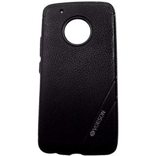 Black Luxury Look Back Cover Case For MOTO G5+ / MOTO G5 PLUS
