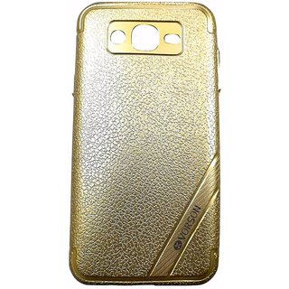 Golden Luxury Look Back Cover Case For Samsung Galaxy J7 (2015 MODEL J700F)