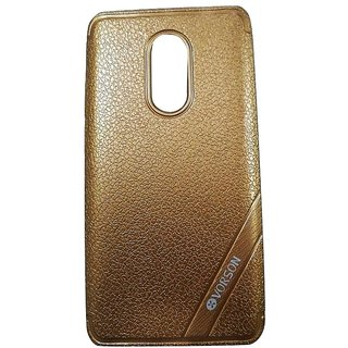 Brown Luxury Look Back Cover Case For REDMI NOTE 4