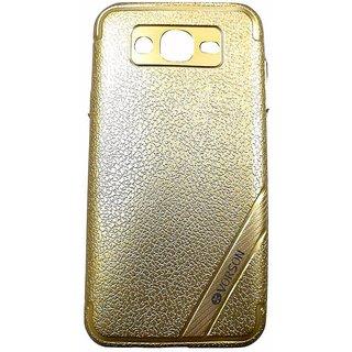 Golden Back Cover Case For Samsung Galaxy J7 (2015 MODEL J700F)