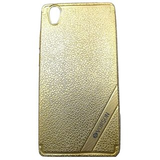 Golden Luxury Look Back Cover Case For VIVO Y51/Y51L