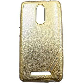 Golden Luxury Look Back Cover Case For REDMI NOTE 3