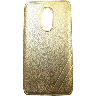 Golden Back Cover Case For REDMI NOTE 4