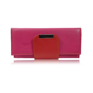 Sn Louis Pink And Red Women Wallet
