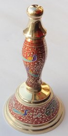 Pooja Hand Bell / Ghanti ( Pure Brass Material ) Height 18cm/7inch (Royal Look)