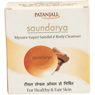 Patanjali Saundarya Mysore Super Sandal Body Cleanser 75gms(Pack of 2)