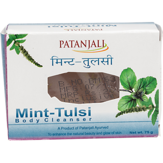 Patanjali Mint Tulsi Body Cleanser Soap, 75 Gm