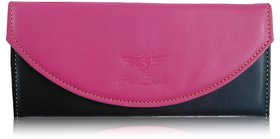 Sn Louis Pink And Black Women Wallet 016