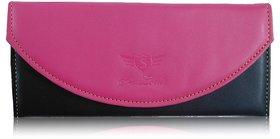 Sn Louis Pink And Black Women Wallet 016