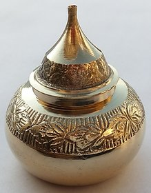 Sindur Box ( Pure Brass Material ) size 6cm X 6cm