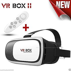 GTC VR BOX 2.0 Virtual Reality 3D Glasses, 3D VR Headsets With Bluetooth Remote for 4.76 Inch Screen Smart Phones