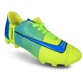 Kwickk Football Shoe Power PVC Fluorescent Green