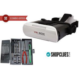 Buy VR Box 3D Glasses With Free Mini Hobby Tool Kit - CMVRMH2
