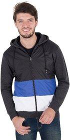 Zoravie Men's Solid Full Sleeve Woollen Jacket-Blue