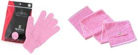 Ttaereu Mio Pack of Towel Scrub  Scrub Bath Glove