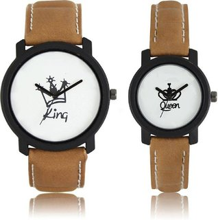 King Queen Love Forever SCK Couple Wrist Analogue Watch