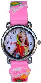 true choice new i DIVA'S 6th Dimensions Barbie Quartz Analog Watch Pink Colour Steel Body Kids Watch 6 month warranty