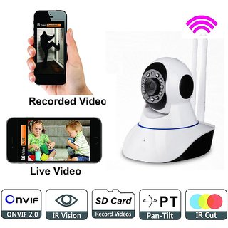 Maxxlite Wireless Dual Antenna HD IP Wifi Indoor Security CCTV Camera Video Monitor With 2 Way Audio Chat
