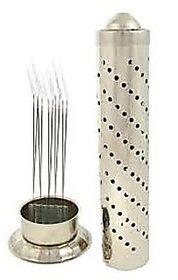 Sterling Bazaar Stainless Steel Silver Agarbatti Stand Holder (Steel Regular)