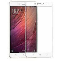 Tempered Glass White Colour Redmi Note 4 Full Screen Be