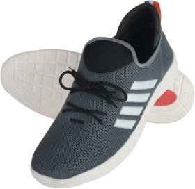 Footfit Grey White Sports Shoes For Mens